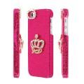 Темно - розовый чехол накладка Корона для iPhone 5 - 5s