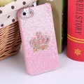 Светло - розовый чехол накладка Корона для iPhone 5 - 5s