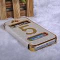 Золотой чехол - книжка белый для iPhone 5 - 5s