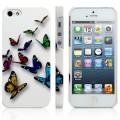 Чехол накладка с бабочками для iPhone 5 - 5s