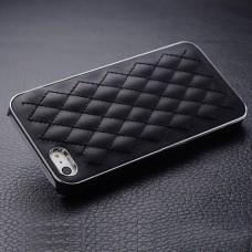 Кожаный чехол с серебром для iPhone 5 - 5s