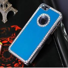 Голубой чехол со стразами для iPhone 4 - 4s