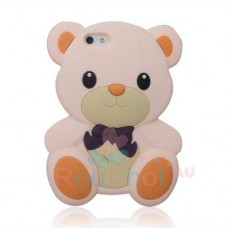 Чехол накладка игрушка - Мишка для iPhone 5 - 5s