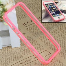 Розовый силиконовый бампер для iPhone 5 - 5s