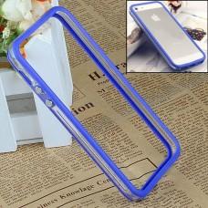 Синий силиконовый бампер для iPhone 5 - 5s