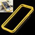 Желтый силиконовый бампер для iPhone 5 - 5s