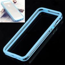 Голубой силиконовый бампер для iPhone 5 - 5s