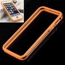 Оранжевый силиконовый бампер для iPhone 5 - 5s