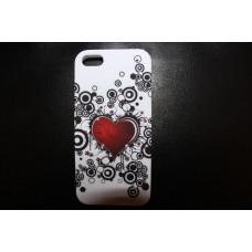 Чехол накладка сердечко для iPhone 5 - 5s