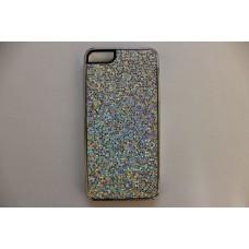 Блестящий белый чехол накладка для iPhone 5 - 5s