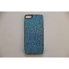 Блестящий голубой чехол накладка для iPhone 5 - 5s