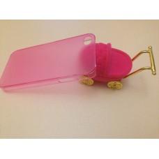 Ультратонкий розовый чехол для iPhone 4 - 4s