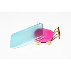 Ультратонкий голубой чехол для iPhone 4 - 4s