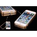Алюминиевый золотой бампер (ультратонкий 0.7мм) для iPhone 4 - 4s
