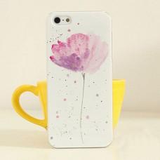 Чехол накладка с цветком тюльпана для iPhone 4 - 4s
