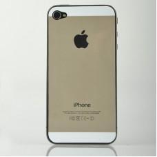 Золотые наклейки для iPhone 4 - 4s под iPhone 5s (перед+зад)