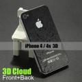 Комплект наклеек (перед+зад) 3D для iPhone 4 - 4s