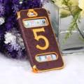 Золотой чехол - книжка фиолетовый для iPhone 5 - 5s