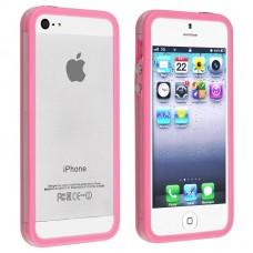 Светло - розовый силиконовый бампер для iPhone 4 - 4s