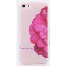 Чехол накладка цветок - масляная краска с лаком для iPhone 5 - 5s