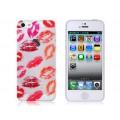 Чехол накладка губы - поцелуи для iPhone 5 - 5s