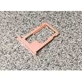 Слот - лоток - держатель для sim карт на iPhone iPhone 6s - 6s plus Rose Gold - розовое золото оригинальный с вырезом под турбосим