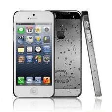 Черный чехол накладка Капельки для iPhone 5 - 5s
