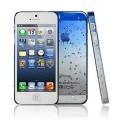 Синий чехол накладка Капельки для iPhone 5 - 5s