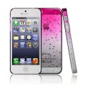 Розовый чехол накладка Капельки для iPhone 5 - 5s