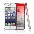 Красный чехол накладка Капельки для iPhone 5 - 5s