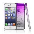 Фиолетовый чехол накладка Капельки для iPhone 5 - 5s