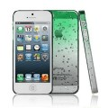 Зеленый чехол накладка Капельки для iPhone 5 - 5s