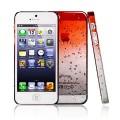 Оранжевый чехол накладка Капельки для iPhone 5 - 5s