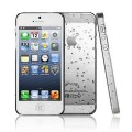 Белый чехол накладка Капельки для iPhone 5 - 5s