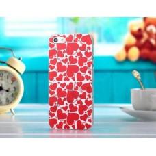 Чехол с сердечками для iPhone 4 - 4s