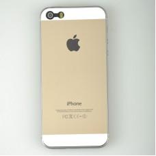 Золотая наклейка (перед+зад+боковые грани) для iPhone 5 - 5s