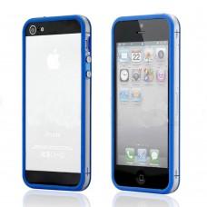 Синий силиконовый бампер для iPhone 4 - 4s