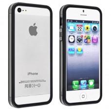 Черный силиконовый бампер для iPhone 4 - 4s