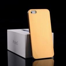 Алюминиевый золотой чехол - накладка для iPhone 5 - 5s