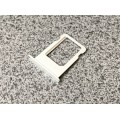 Слот - лоток - держатель для sim карт на iPhone 5 - 5s белый - серебро (silver - white) оригинальный