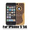 Золотой чехол накладка кофе с молоком для iPhone 5 - 5s