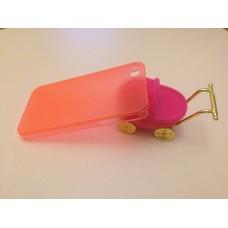 Ультратонкий оранжевый чехол для iPhone 4 - 4s