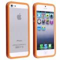 Оранжевый силиконовый бампер для iPhone 4 - 4s