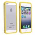 Желтый силиконовый бампер для iPhone 4 - 4s