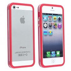 Темно-розовый силиконовый бампер для iPhone 4 - 4s