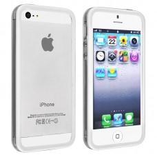 Белый силиконовый бампер для iPhone 4 - 4s