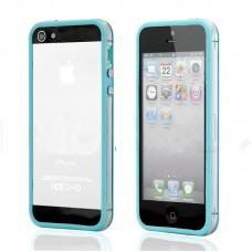 Голубой силиконовый бампер для iPhone 4 - 4s