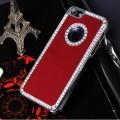 Красный чехол со стразами для iPhone 4 - 4s