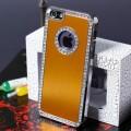 Золотой чехол со стразами для iPhone 4 - 4s